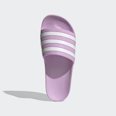 Women's Yoga Purple Adilette Aqua Slides