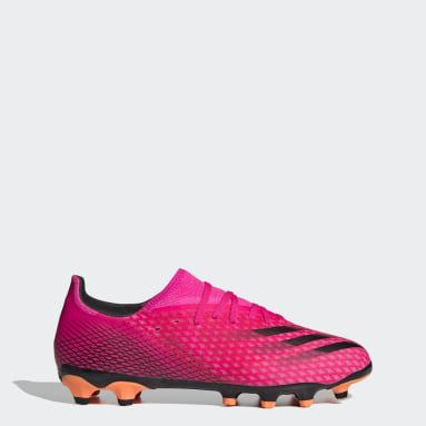 Futbal ružová Kopačky X Ghosted.3 Multi-Ground