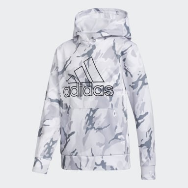 Youth Training White Core Camo Hoodie