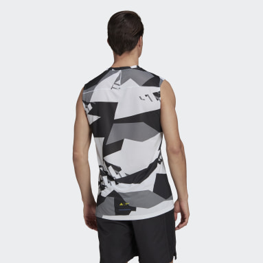 Men's TERREX White Terrex Parley Agravic Trail Running Tank Top