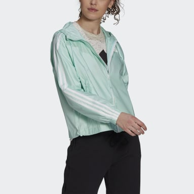Dames City Outdoor Turquoise BSC 3-Stripes Windjack