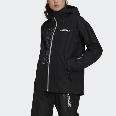 Chaqueta impermeable Terrex GORE-TEX Paclite Negro Mujer TERREX