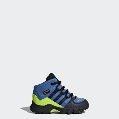 Boys TERREX Blå Terrex Mid GTX sko