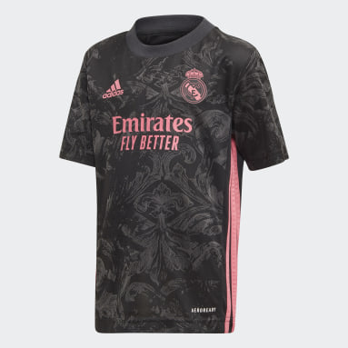 Børn Fodbold Sort Real Madrid 20/21 Mini tredjesæt