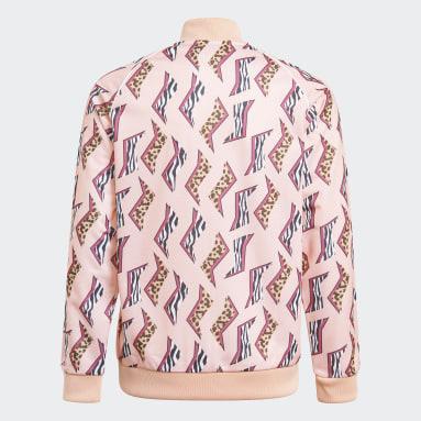 Dívky Originals růžová Sportovní bunda Allover Print SST