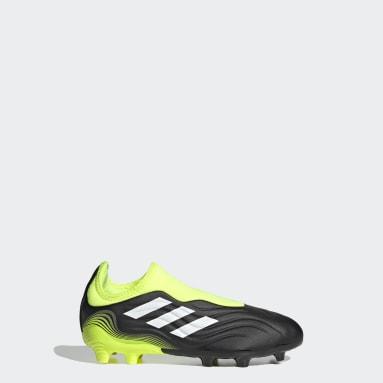 Chaussure Copa Sense.3 Laceless Terrain souple Noir Garçons Football