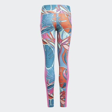 Girls Gym & Training White AEROREADY Allover Print Leggings