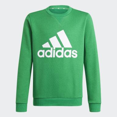 Blusa Moletom Essentials Verde Meninos Estilo Esportivo