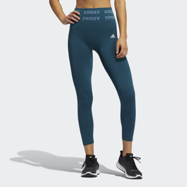 Women's Training Turquoise Training Aeroknit 7/8 High-Rise Tights