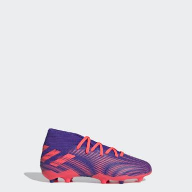 เด็กผู้ชาย ฟุตบอล สีม่วง รองเท้าฟุตบอล Nemeziz .3 Firm Ground