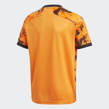 Kinder Fußball Juventus Turin 20/21 Ausweichtrikot Orange
