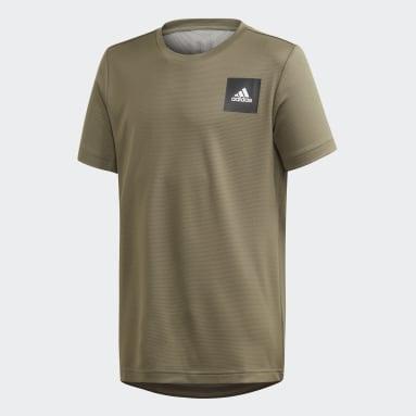 Jungen Yoga AEROREADY T-Shirt Grün