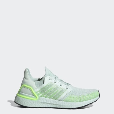 Women Running Green Ultraboost 20 Shoes