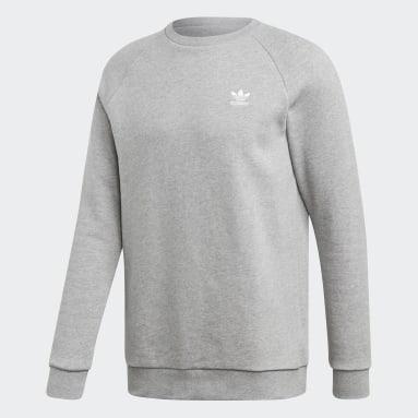 Heren Originals grijs LOUNGEWEAR Trefoil Essentials Sweatshirt