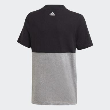 T-shirt Linear Colorblock Noir Garçons Sportswear