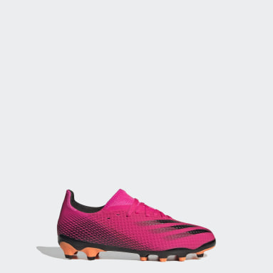 Kids Football Pink X Ghosted.3 Multi Ground Boots