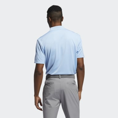Herr Golf Blå Performance Primegreen Polo Shirt