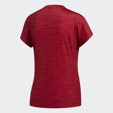 Women Gym & Training Burgundy Badge of Sport T-Shirt