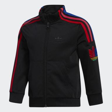 Boys Originals Black Adicolor 3D Trefoil Track Suit