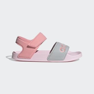 Deti Plávanie ružová Sandále Adilette