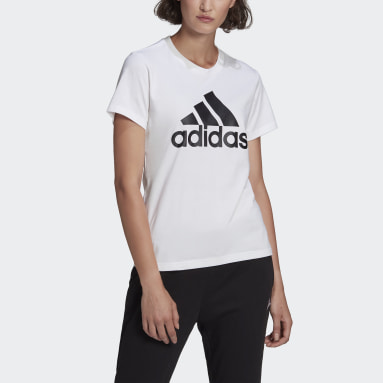 Women Sport Inspired White LOUNGEWEAR Essentials Logo Tee