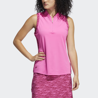 Polo sin mangas Ultimate365 Rosa Mujer Golf