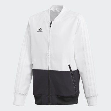 Kids Gym & Training White Condivo 18 Presentation Jacket