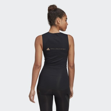 Camiseta sin mangas adidas by Stella McCartney Support Core Negro Mujer adidas by Stella McCartney