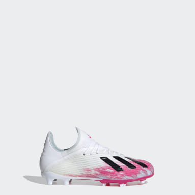 Kids Football White X 19.1 Firm Ground Boots