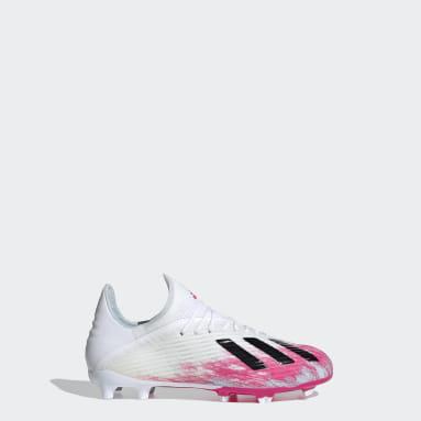 Barn Fotboll Vit X 19.1 Firm Ground Boots