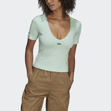 T-shirt R.Y.V. Cropped Verde Donna Originals