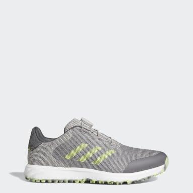 Men Golf Grey S2G BOA Spikeless Golf Shoes