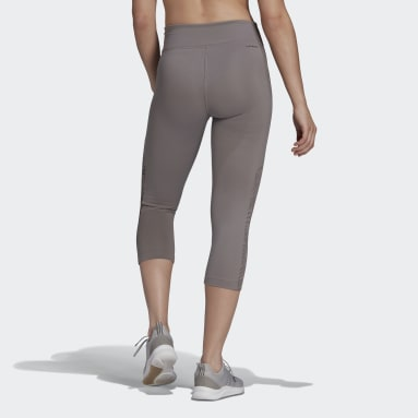 Women's Training Grey adidas x Zoe Saldana AEROREADY 3/4 Tights