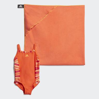Girls Vandsport Orange Badedragt