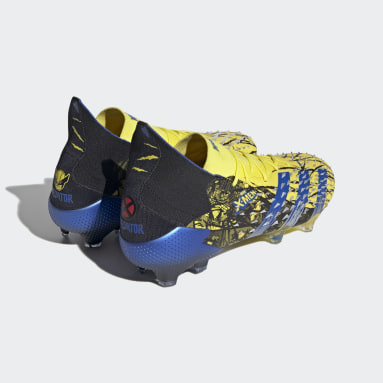Men Soccer Yellow Marvel Predator Freak.1 Firm Ground Cleats