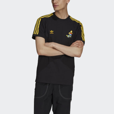 Men Originals Black The Simpsons 3-Stripes Tee