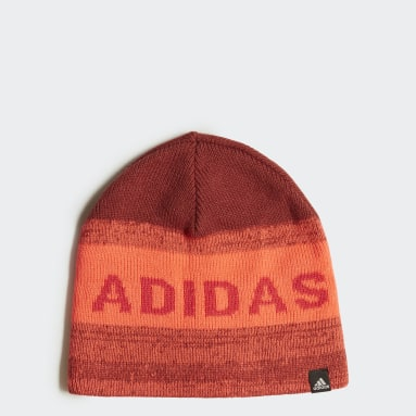 Kids 4-8 Years Winter Sports Red Graphic Beanie