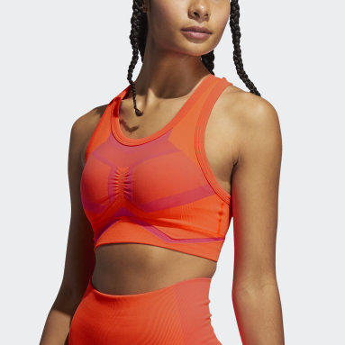 Women Training Orange Studio Two-Tone Bra