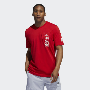 Men Basketball Red Quiccs Harden Graphic Tee