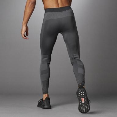 ผู้ชาย เทรนนิง สีดำ กางเกงรัดรูปขายาวไร้ตะเข็บ Studio Techfit