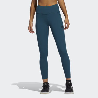 Dames Fitness En Training Turquoise Techfit 7/8 HEAT.RDY Legging