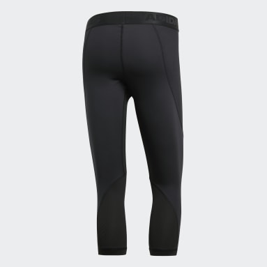 Men Outdoor Black Alphaskin Sport 3/4 Tights