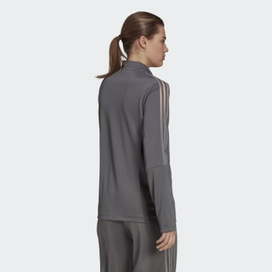 Women Football Grey Tiro Transparent Jacket