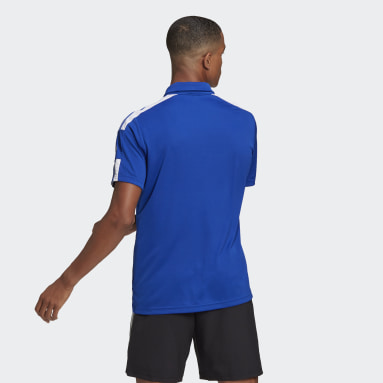 Men Football Blue Squadra 21 Polo Shirt