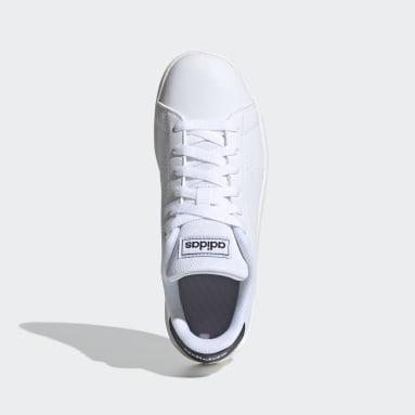 Children Sport Inspired White Advantage Shoes