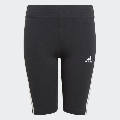 Meisjes Sportswear Zwart Essentials 3-Stripes Korte Legging