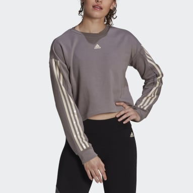 Women's Essentials Grey adidas x Zoe Saldana AEROREADY Sweatshirt