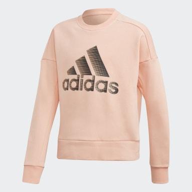 Mädchen Fitness & Training ID Glam Sweatshirt Rosa