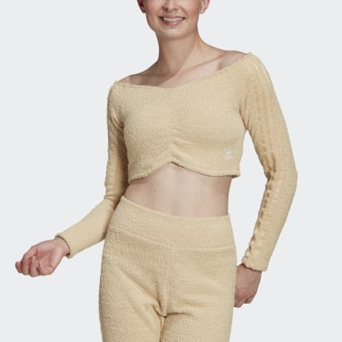 Top Crop Beige Donna Originals