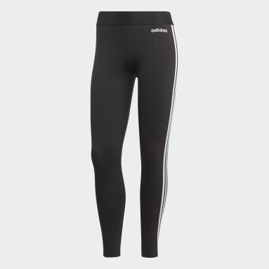 Women Sport Inspired Black Essentials 3-Stripes Tights